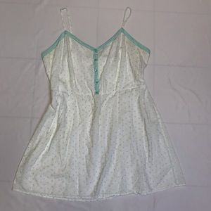 Torrid EMBROIDERED BABYDOLL TANK TOP 3X